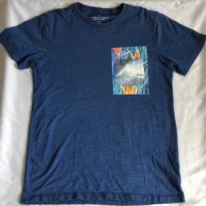 American Eagle Outfitters Blue Shirt W/ Pocket